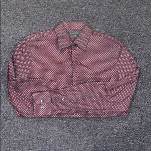 Perry Ellis long-sleeve button down collared shirt